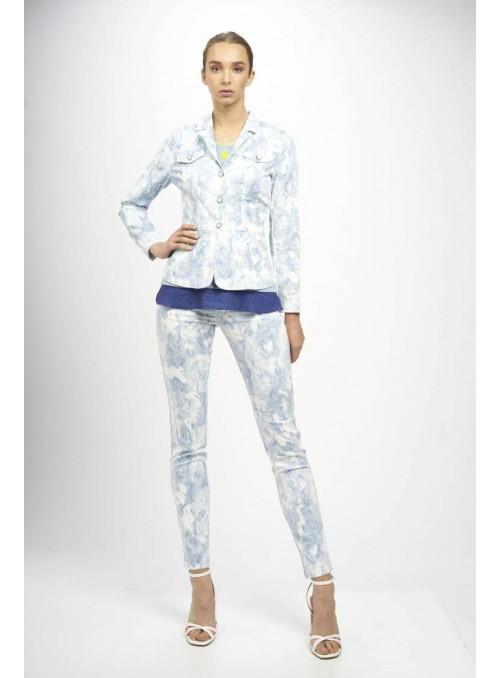 Miss is Chaqueta estampado serpiente jeans