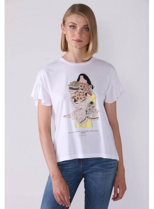 Lucky Lu Camiseta estampado chica