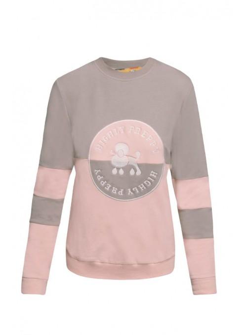 H. Preppy Sudadera círculo rosa