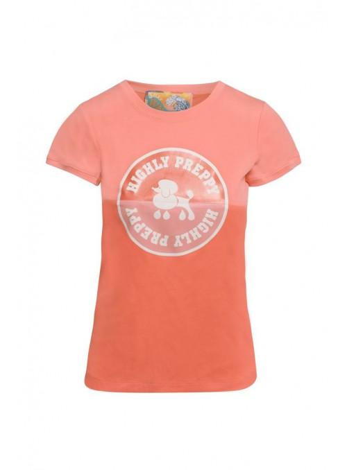 H. Preppy Camiseta círculo salmón
