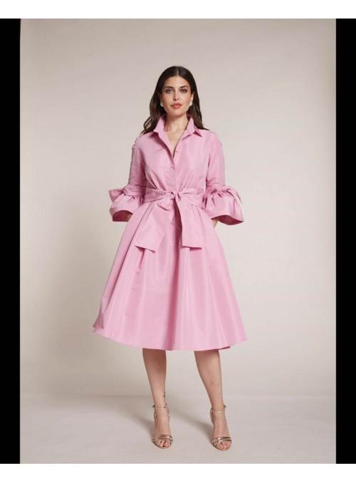 Moskada Vestido camisero rosa