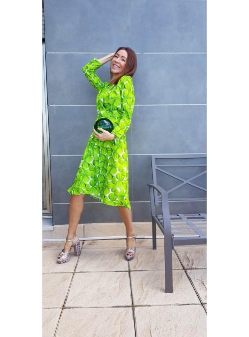 Moskada Vestido estampado verde