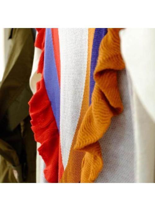 THEO & LEA Jersey punto multicolor volantes