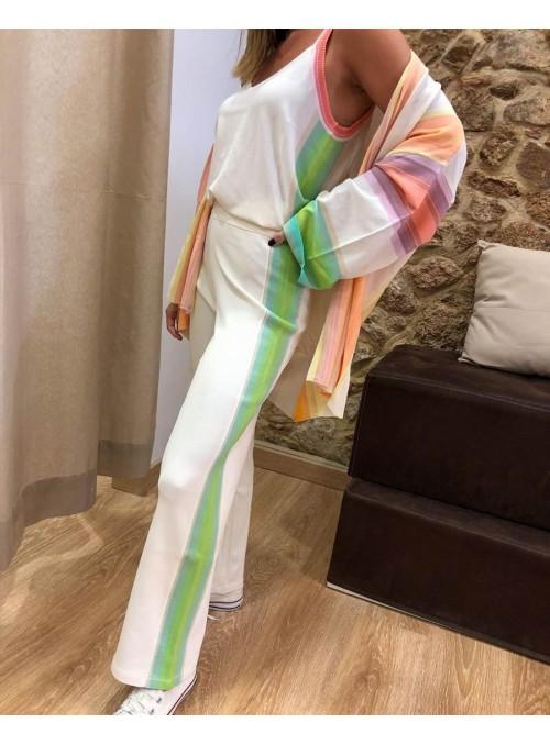 THEO & LEA Pantalón punto multicolor