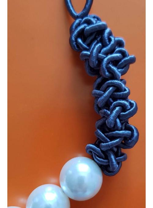 VOSSO Collar perlas gris