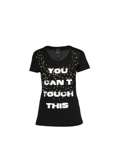 Acces Camiseta tachuelas negra