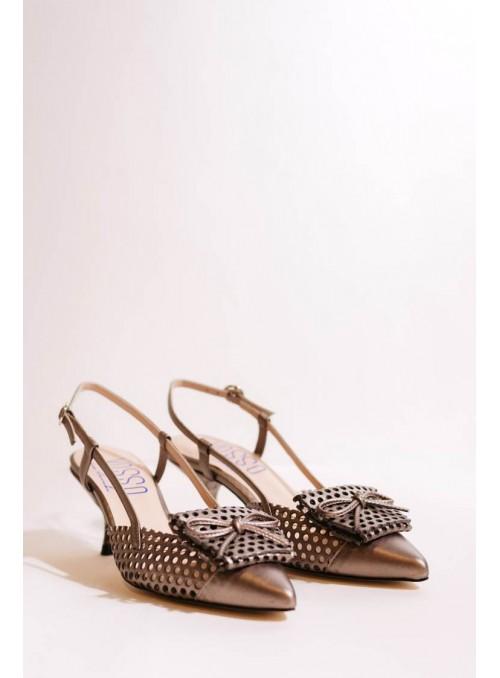 VOSSO Zapato brocado plata