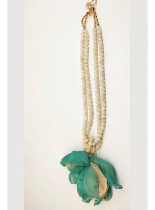 Kontessa Collar piedras flor turquesa