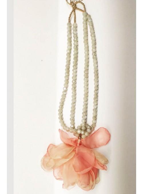 Kontessa Collar piedras flor coral