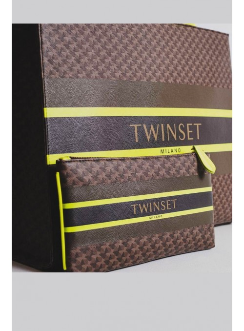 Twin Set Bolso Clucht Estampado Mariposas