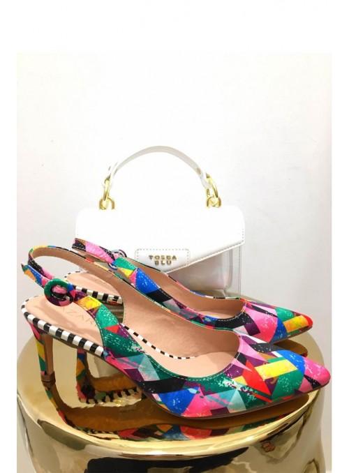 Vossochic Zapato estampado multicolor