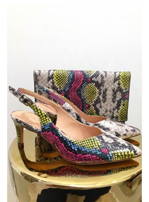Vossochic Zapato print multicolor