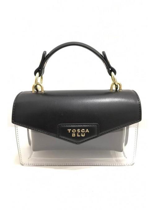 Tosca Blu Bolso mini transparente negro