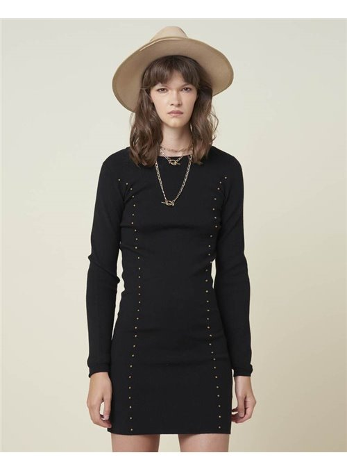 8PM Vestido Punto Negro
