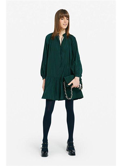 Vestido Volantes Verde