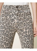Twin Set Pantalón Animal Print