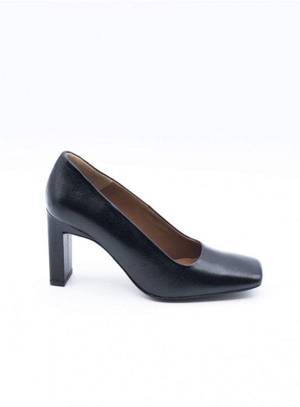 Zinda Zapato Punta Cuadrada Negro