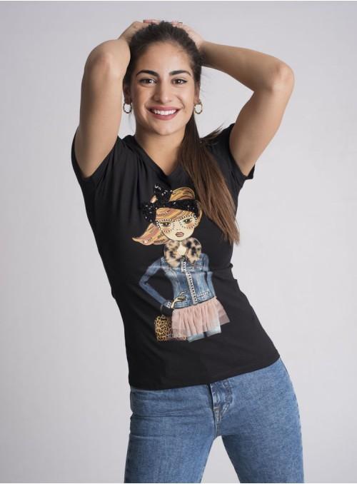 Liujo Camiseta Estampado Chica Denim