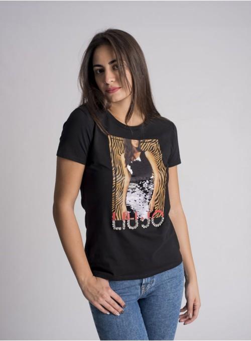 Liujo Camiseta Marco Print Animal