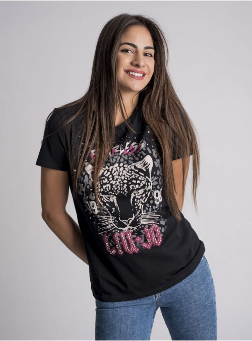 Liujo Camiseta Estampado Jaguar Fearless