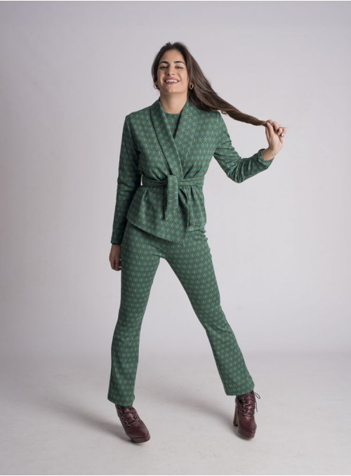 NIU Blazer Estampado Geométrico Verde