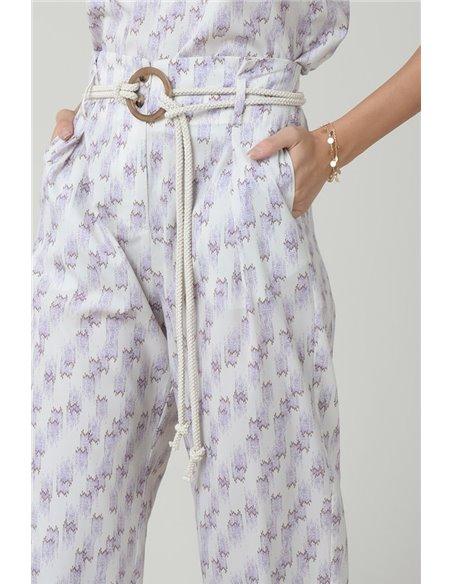 Molly Bracken Pantalón Estampado Malva