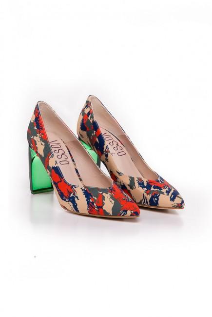 Vosso Zapato Print EtnicoTacón Verde