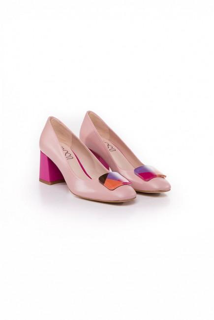 Vosso Zapato Rosa tacón ancho Fucsia