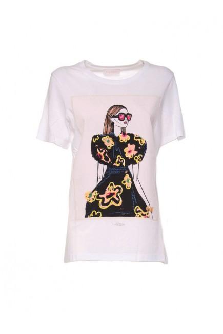 Lucky Lu Camiseta Chica Flores