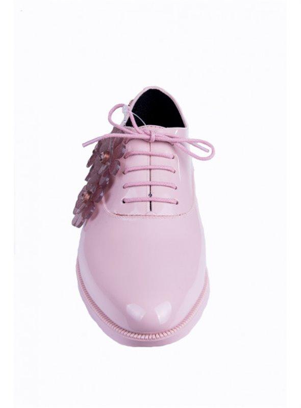 Zapato rosa flores